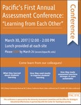 2017 Assessment Conference by University of the Pacific