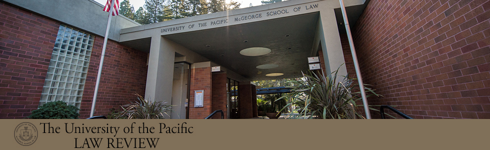 The University of the Pacific Law Review