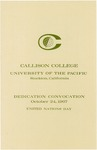 Callison College Dedication Convocation Program