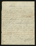 Letter from Norton T. .Worcester to Sister, 1864 April 25 by Norton T. Worcester