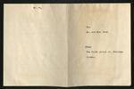 Farewell Party for Mr. &  Mrs. Johnson Invitation,  April 1, 1944