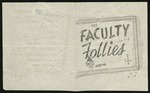 Faculty Follies Program, n. d. by Tri-State High School