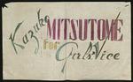 Kazuko Mitsutome Campaign Poster, [1943/44]