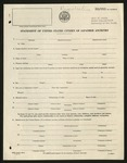 WRA Form: Statement of US Citizen of Japanese Ancestry, [July 1943]