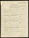 WRA Form: Application for Leave Clearance (Short Form), July 31, 1943