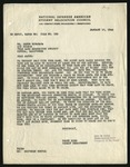 Letter from Trudy King, National Japanese American Student Relocation Council to Janus Kurahara Tule Lake, January 10, 1944