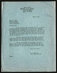 Letter from M.P. Gunderson, High School Principal to R.R. Best, Project Director [re: difficulty with Army guards over passes for teachers], May 31, 1944
