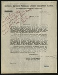 Letter from Dorothy Yamauchi, National Japanese American Student Relocation Council to Guy Cook[re: info on Yoshito Osaki; incl. form], September 7 & 9, 1945