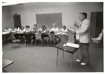 Dewey Chambers lecturing at the School of Education by Holt-Atherton Special Collections, University of the Pacific