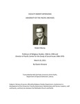 Blaney, Robert Oral History Interview by Gwenn Browne