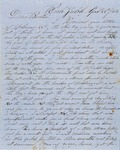 Letter from Sylvan Rathbun to Albert Rathbun 1853 April 28 by Sylvan Rathbun