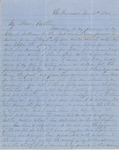 Letter from Augustin Hibbard to [William Hibbard] 1855 Nov. 20
