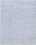 Letter from Augustin Hibbard to [William Hibbard] 1856 Oct. 16