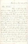 Letter from Augustin Hibbard to [William Hibbard] 1861 Dec. 25