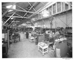 Agricultural Machinery - Calif - Stockton: Harris Manufacturing Co., Engines being assembled inside factory