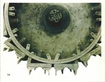 Agricultural Machinery - Calif - Stockton: A closeup of steel tread wheel