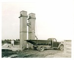 Agricultural Machinery - Calif - Stockton: Rex grain elevator and a truck