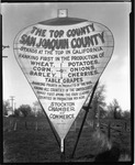 Advertising - Stockton: Placard promoting San Joaquin County