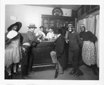 Amateur Theatricals - Stockton: A group of men performing a bar - room skit