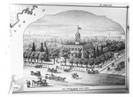 Courthouses - Stockton: Engraving of San Joaquin Co. Courthouse, taken from Thompson and West History of San Joaquin County