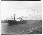 Freighters - Stockton: Felix Taussic freighter, [carrying full cargo], Stockton Channel