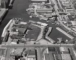 Stockton - Harbors - 1960s: Aerial of head of channel