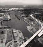 Stockton - Harbors - 1970s: Overview of channel and surrounding area by Leonard Covello
