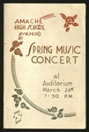 Amache High School Spring Music program by Amache High School