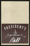 President's Ball invitation