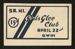 Amache High School Girls Glee Concert Ticket by Amache High School