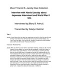 Interview with Harold Jacoby about Japanese Internment and World War II (Part 4 out of 4)