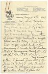 1893 Aug 8 JM to Wanda p1