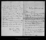Letter from [Ann Gilrye Muir] Mother to John Muir, 1894 Oct 24. by [Ann Gilrye Muir] Mother