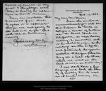 Letter from Wm D. Armes to John Muir, 1894 Oct 11. by Wm D. Armes