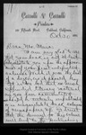 Letter from C[harles] W[alter] Carruth to John Muir, 1894 Oct 30.