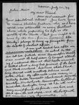 Letter from James D[avie] Butler to John Muir, 1894 Jul 30.
