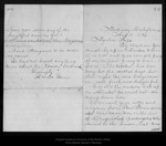 Letter from [Annie] Wanda Muir to [John Muir], 1896 Aug 11.