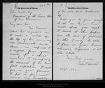 Letter from Robert Herrick to John Muir, 1896 Oct 8.