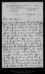 Letter from C[harles] W[alter] Carruth to John Muir, 1894 Jan 17.