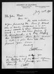 Letter from C[harles] H. Shinn to John Muir, 1895 Jul 30 . by C[harles] H. Shinn
