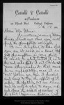 Letter from C[harles] W[alter] Carruth to John Muir, 1894 Feb 18.