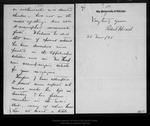 Letter from Robert Herrick to John Muir, 1896 Nov 21.