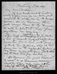 Letter from John Muir to Charlie [A. Keeler], 1899 Oct 8.