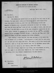 Letter from Henry F[airfield] Osborn to John Muir, 1899 Apr 19. by Henry F[airfield] Osborn
