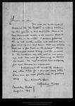 Letter from Adeline Knapp to John Muir, 1899 Aug 27. by Adeline Knapp