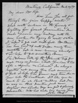 Letter from John Muir to [George G.] Kip, 1899 Mar 28.