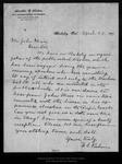 Letter from F[ranklin] E. Perham to John Muir, 1899 Apr 29. by F[ranklin] E. Perham