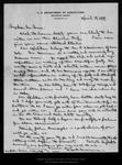 Letter from C. Hart Merriam to John Muir, 1899 Apr 19. by C Hart Merriam