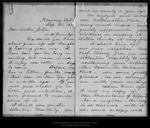 Letter from Mary [Muir Hand] to [John Muir], 189[9] Sep 21. by Mary [Muir Hand]