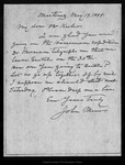 Letter from John Muir to [Charles A.] Keeler, 1899 May 19.